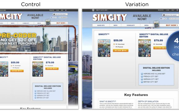 Example of ecommerce a/b test