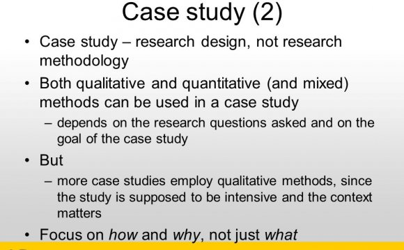research design case study