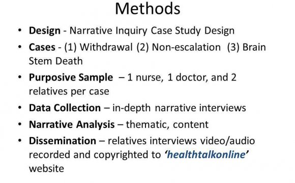 Case study Methods of data collection