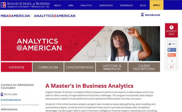 Online Masters Business Analytics