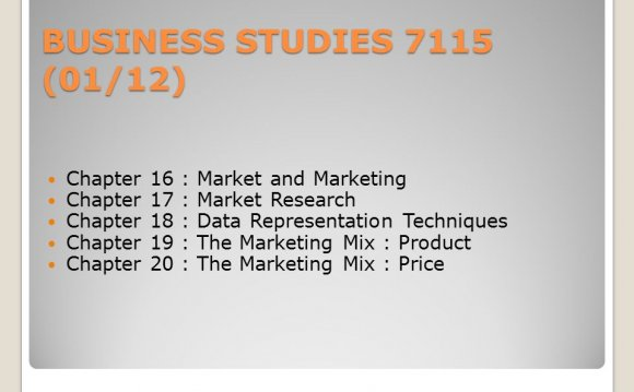Business Studies Curriculum