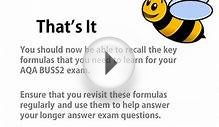 Bee Business Bee AQA BUSS2 Formulas for Revision Presentation