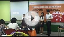 FU Spring 2015 Thesis Defense – Bachelor of Business