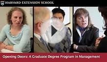 Grad Degree Program in Management: Harvard Extension School