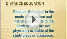 Online Education| Distance MBA| Correspondence Courses